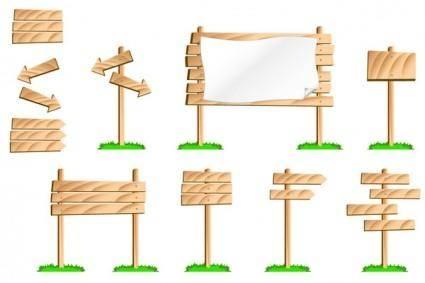 free vector Bulletin board signs vector