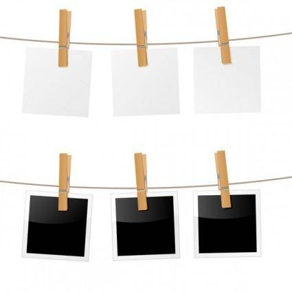 Hanging photo vector