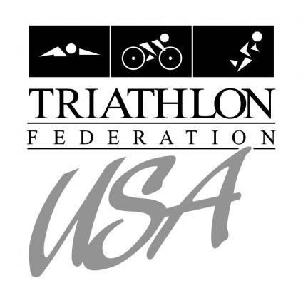 free vector Triathlon federation usa