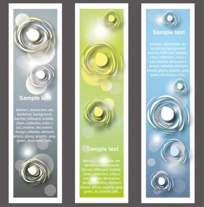Trend bookmark card 03 vector