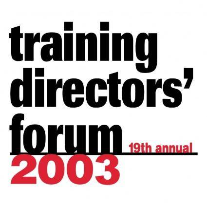 Training directors forum 2003