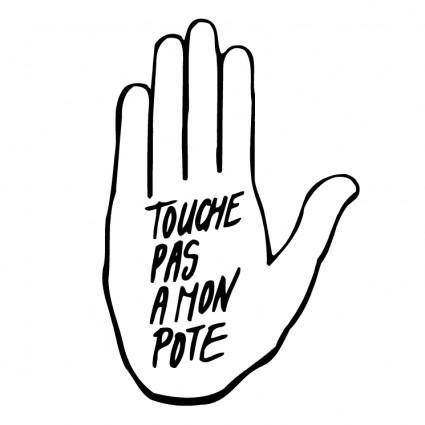 free vector Touche pas a mon pote