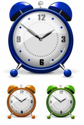 free vector Vector colorful alarm clock