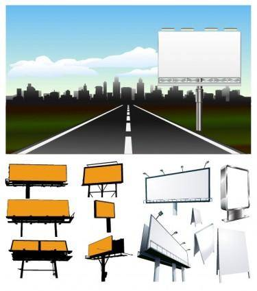 Large outdoor billboards vector