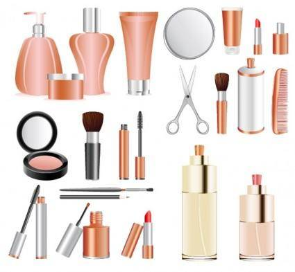 free vector A variety of cosmetics clip art