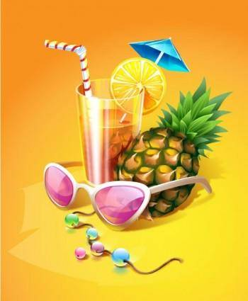 free vector Zest summer drink vector