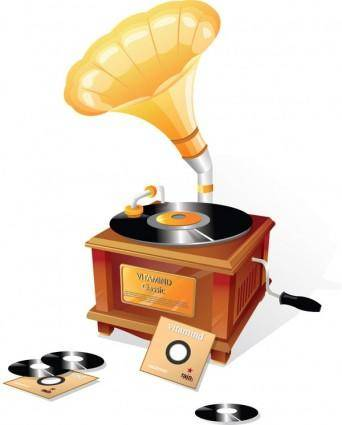 free vector Gramophone classical vector