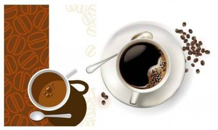 free vector 2 coffee cup clip art