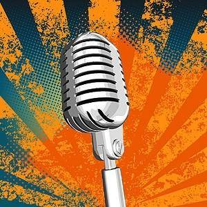 free vector Silver metallic microphone vector