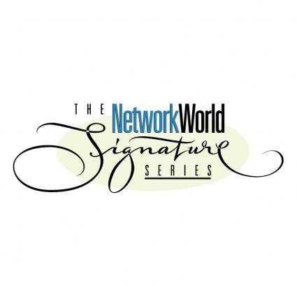 free vector The networkworld signature series