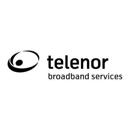 free vector Telenor broadband services