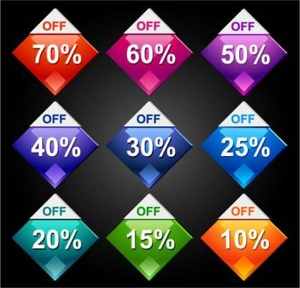 free vector Behind the discount label 01 vector