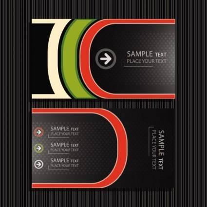 Fine card 05 vector