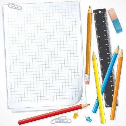 free vector School supplies 01 vector