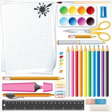 School supplies 02 vector