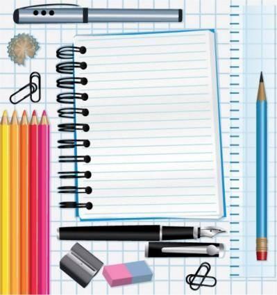 free vector School supplies 03 vector