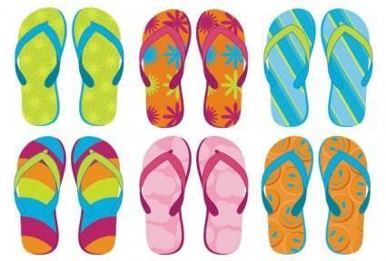 free vector Summer sandals 02 vector