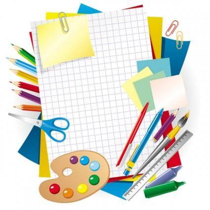 free vector Learning stationery 01 vector