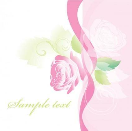 free vector Beautiful roses greeting cards 01 vector