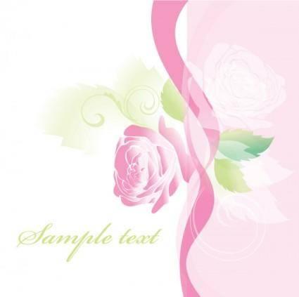free vector Beautiful roses greeting cards 01 vector