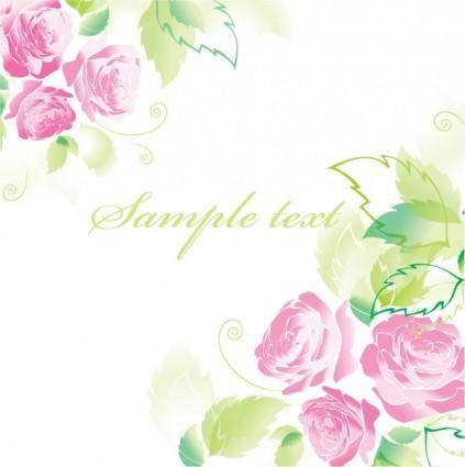 free vector Beautiful roses greeting cards 03 vector