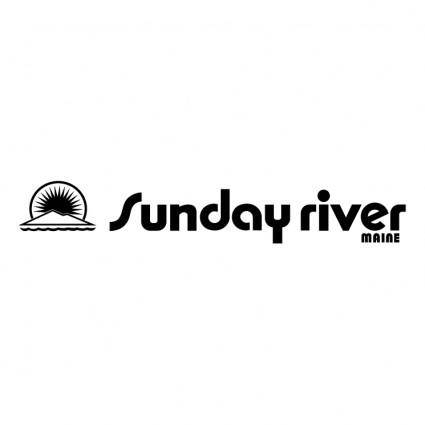 free vector Sunday river 0