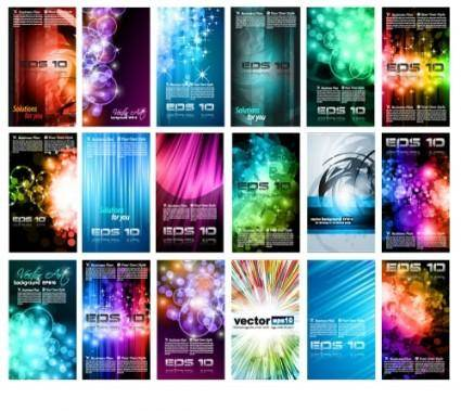 Brilliant light effects dynamic business cards 01 vector