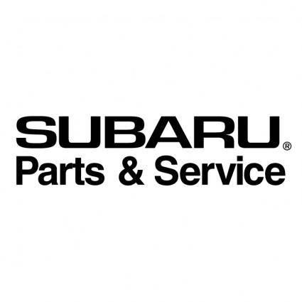 free vector Subaru parts service