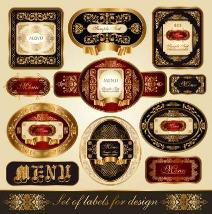 free vector Fine labels wine labels 02 vector