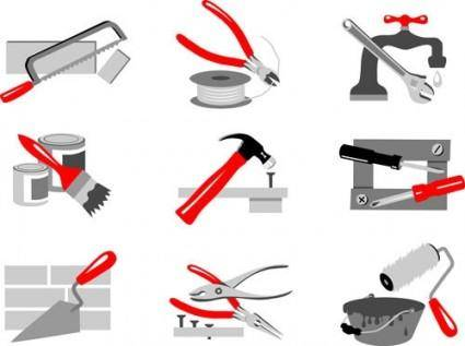 free vector Maintenance tools 02 vector