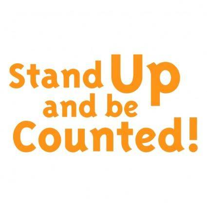 free vector Stand up and be counted