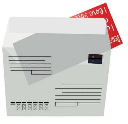 free vector Nostalgia envelopes and paper 02 vector
