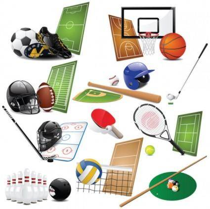 Sports equipment 01 vector