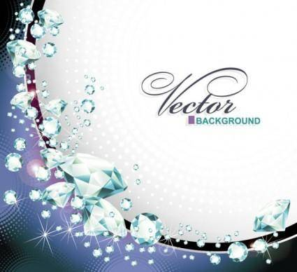 free vector Dazzling diamonds 03 vector