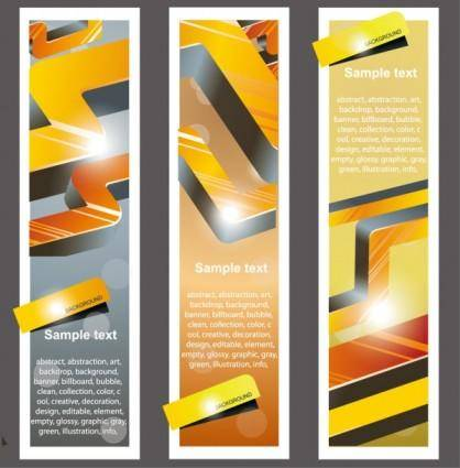 free vector Trend bookmark card 02 vector