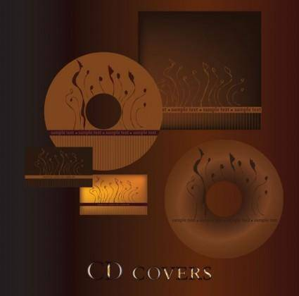 Dark red cd cover 01 vector