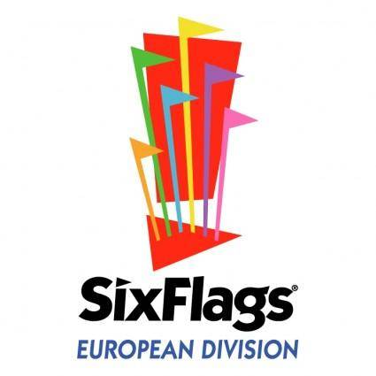 free vector Six flags european division 1