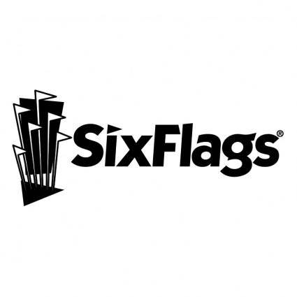 free vector Six flags 0