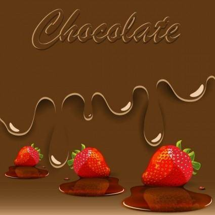 free vector Sweet strawberry jam 02 vector