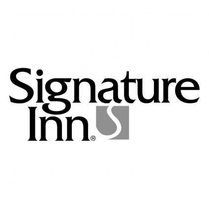 free vector Signature inn