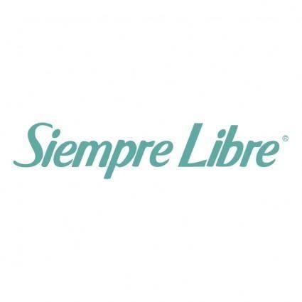 free vector Siempre libre