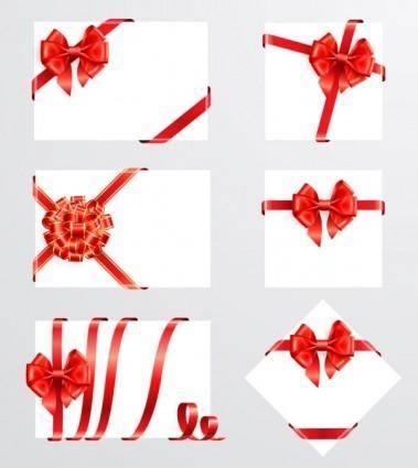 Beautiful ribbon bow 05 vector