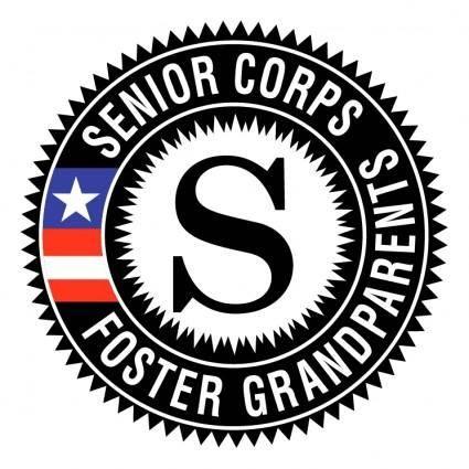 free vector Senior corps foster grandparents
