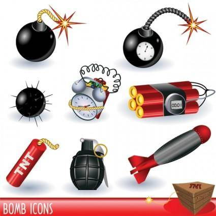 free vector Bombs landmines series vector