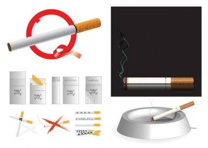 Cigarette theme vector