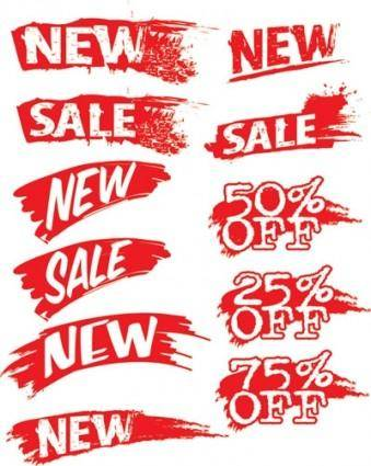 free vector Sales discount ink vector