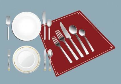 free vector Western tableware vector