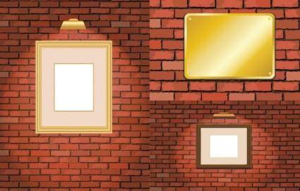 free vector Brick and frame vector