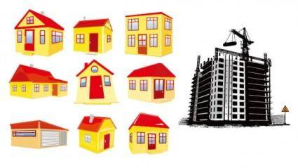 free vector House building vector