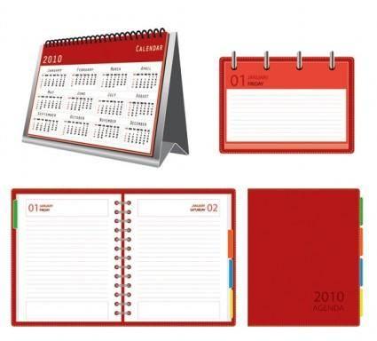 free vector Calendar notepad vector